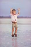 Kid on the sea Royalty Free Stock Photos