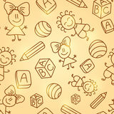 Kid Seamless Pattern Royalty Free Stock Photo