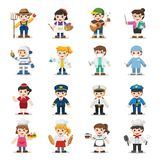Kid Set of different professions. royalty free illustration