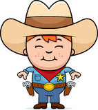 Kid Sheriff. A cartoon kid dressed as a sheriff Royalty Free Stock Images