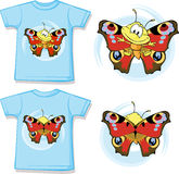 Kid shirt with cute butterfly printed Royalty Free Stock Photography