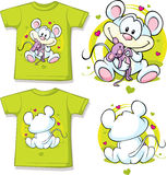 Kid shirt with cute mouse printed Royalty Free Stock Photos