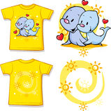 Kid shirt with cute seal printed Stock Images