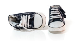 Kid shoes. Vintage kid shoes on white background Stock Photography