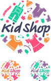 Kid Shop. Clothes for children. Royalty Free Stock Images