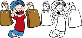 Kid Shopping Stock Image