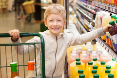 Kid shopping Royalty Free Stock Images
