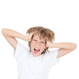 Kid shouting Royalty Free Stock Photos