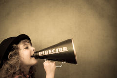 Free Kid Shouting Through Megaphone Stock Images - 44693524