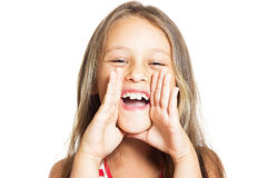 Kid shouts Royalty Free Stock Photography