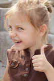 Kid showing ok Royalty Free Stock Photography