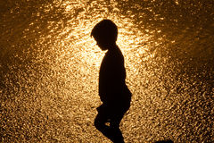 Kid silhouette Royalty Free Stock Photography