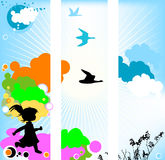 Kid silhouette Stock Photos