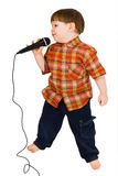 Kid singing Royalty Free Stock Photo