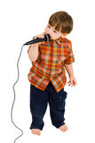 Kid singing Stock Photo