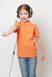 Kid singing Royalty Free Stock Images