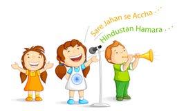Kid singing Indian Song Stock Photo