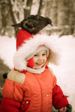 The kid sits on his head dove. Royalty Free Stock Photo
