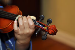Kid-sized Violin Royalty Free Stock Images