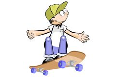 Kid on Skate isolated Royalty Free Stock Photography
