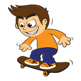 Kid on skateboard Royalty Free Stock Photography