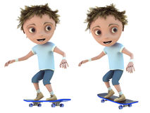 Kid on a skateboard Royalty Free Stock Photos