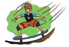 Kid on skateboard Royalty Free Stock Photography