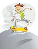 Kid with skateboard Stock Image