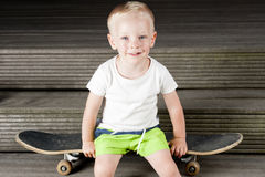 Kid Skateboard Active Stock Images