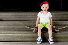 Kid Skateboard Active Royalty Free Stock Images