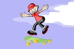 A kid on skateboard. Stock Images