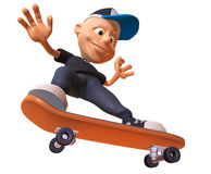 Kid skateboarding Royalty Free Stock Image