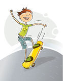 Kid skateboarding Royalty Free Stock Photography