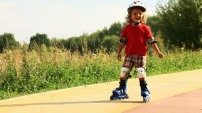 Kid skating stock footage