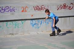 Kid skating Royalty Free Stock Image