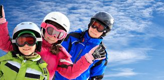 Kid skiers Royalty Free Stock Image