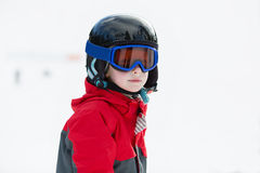 Kid skiing Royalty Free Stock Photography