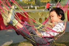 Kid sleeping stock image