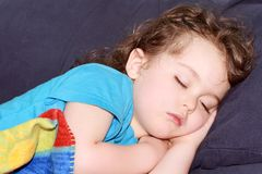 Kid sleeping Royalty Free Stock Photography