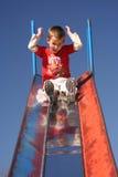 Kid sliding. Children Royalty Free Stock Photo