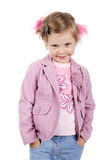 Kid smile. Happy little girl. Shot in studio Royalty Free Stock Photo