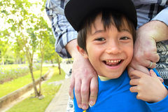 Kid smiling to the camera Royalty Free Stock Photo