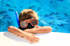 Kid snorkeling Royalty Free Stock Images