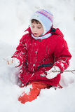 Kid on the snow Stock Image