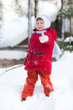Kid on the snow Stock Photo