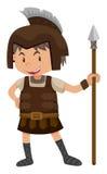 Kid in soldier costume. Illustration Stock Photos
