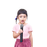 Kid speaking Royalty Free Stock Images