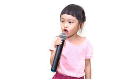 Kid speaking Stock Image