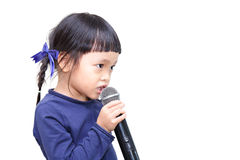 Kid speaking Stock Photo