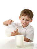 Kid spilt milk Royalty Free Stock Photo